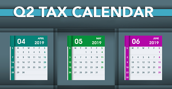q2 tax calendar