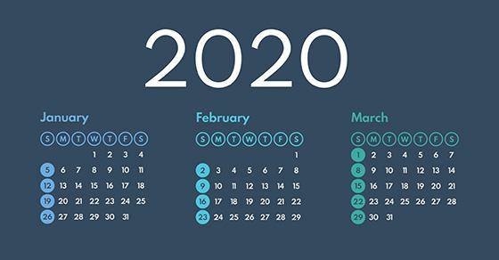 tax calendar q1 2020
