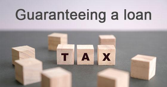 guaranteeing a loan